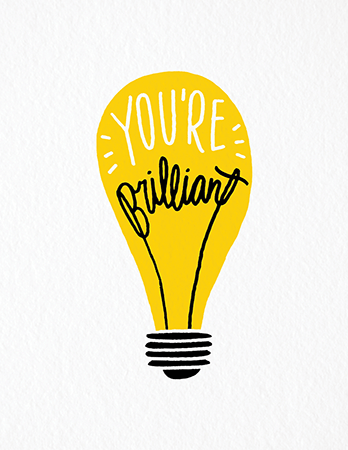 Hand Drawn You\'re Brilliant Congrats Card