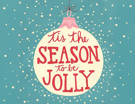 Cheerful Winter Holiday Card