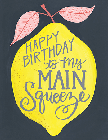 Lemon Squeeze Birthday Card