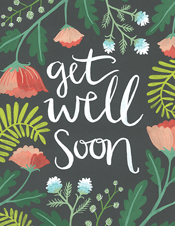 Painted Jungle Get Well Soon Card