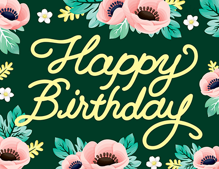 Birthday Cards Mailed For You – Green Birthday Card