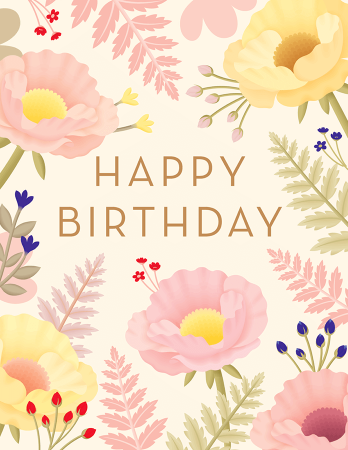 Birthday cards mailed for you postable beautiful garden birthday bookmarktalkfo Gallery