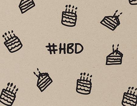Hashtag HBD Birthday Greeting Card