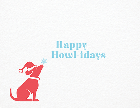 Cute Dog Happy Holidays Card