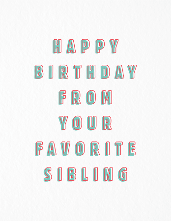 Favorite Sibling