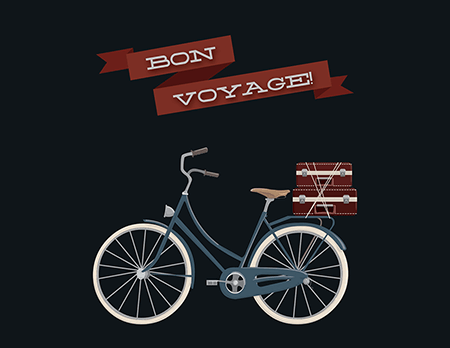 Bon Voyage We've Moved Card