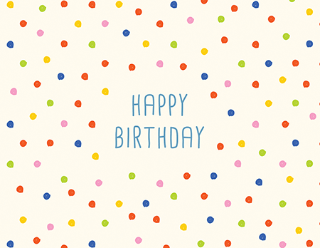Colorful Polka Dots Birthday Card