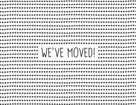 Black and White We\'ve Moved Card