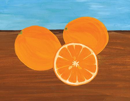 Bright Oranges Art Card