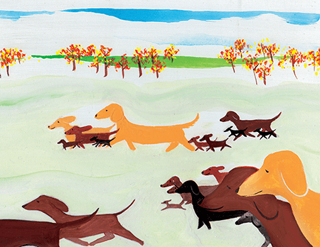 painted Doxies Gone Wild art card