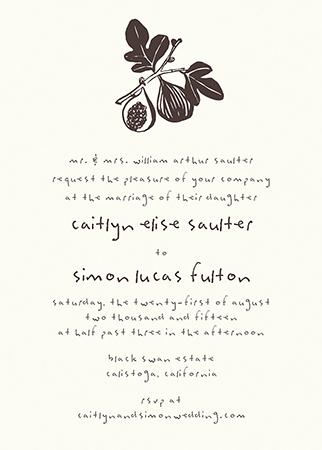 Earthy Figs Invitation