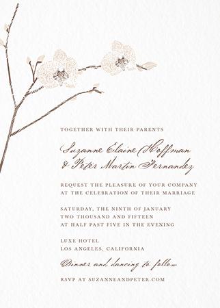 Orchid Invitation
