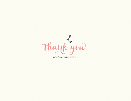Simple You're The Best thank you card