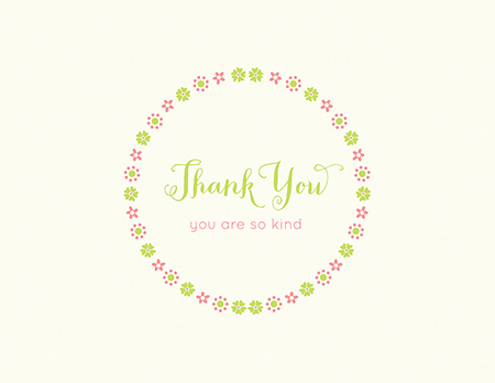 Teeny Wreath Thank You Card