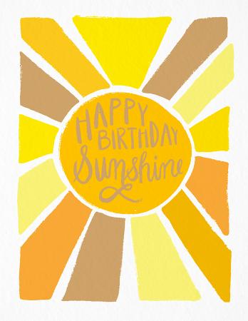 Happy Birthday Sunshine