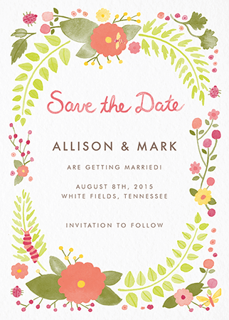Flora and Fauna Save the date