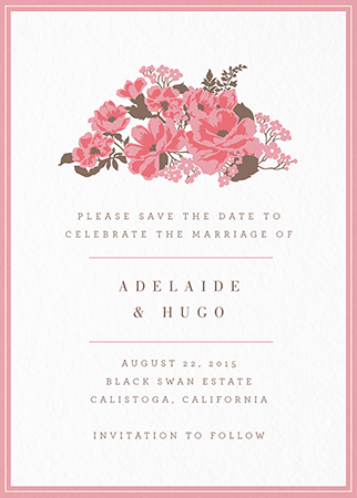 English Rose Save the date