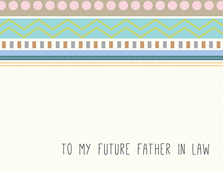 Pretty Bridal Party Card for Future Father In Law