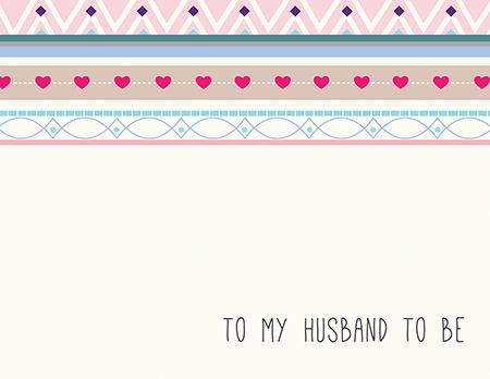 Pretty Bridal Card for Husband To Be