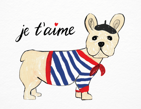 je t'aime painted love card