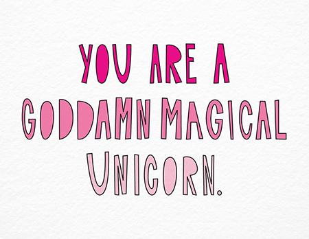 Magical Unicorn Valentine Card