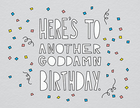 Funny Confetti Birthday Card