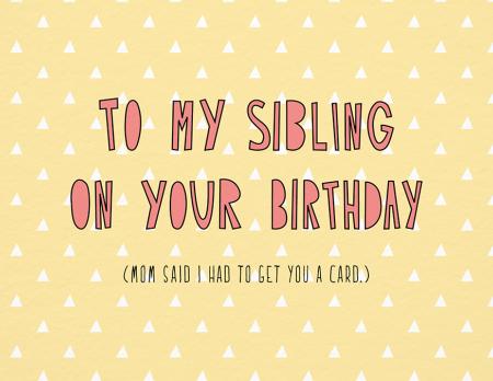 Sibling Birthday