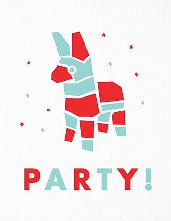 Pi–ata Party Card