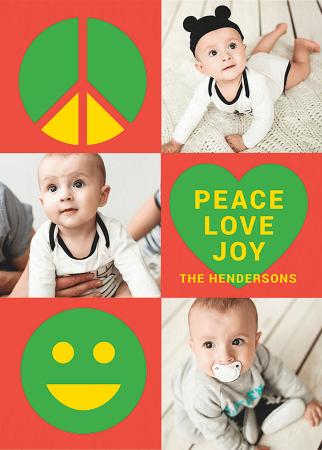 Peace Love Joy Shapes