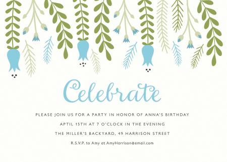 Hanging Florals Invite