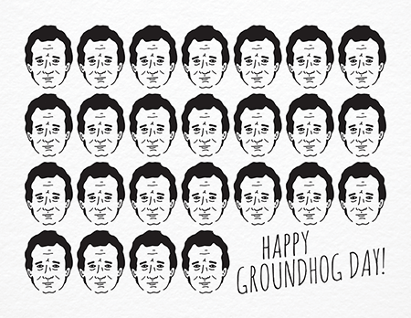 funny bill murray groundhog day card