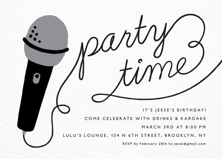 Custom Party Invitations Mailed For You – Karaoke Party Invitation