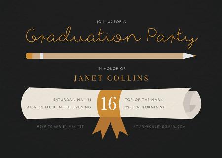 Graduation Diploma Invite