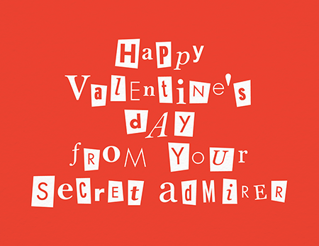 Secret Admirer Valentine's Card