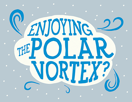 Polar Vortex Greeting Card