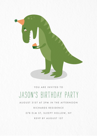 POSTABLE1292 birthday party invites and cards postable