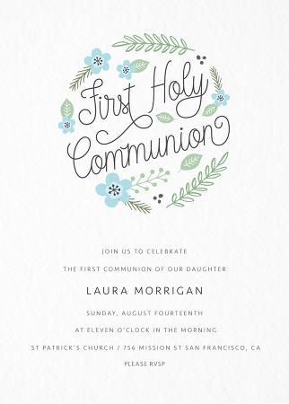 Floral Circle Communion