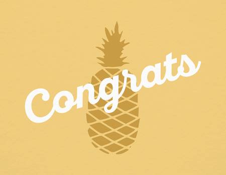 Pineapple Congrats