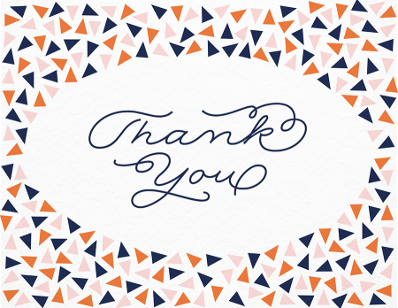 Thank You Triangle Confetti