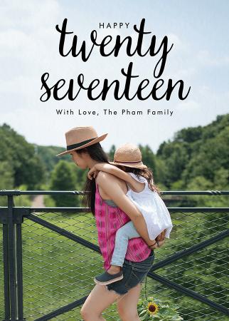 Twenty Seventeen Lettering