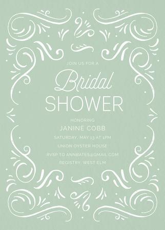 mint bridal shower