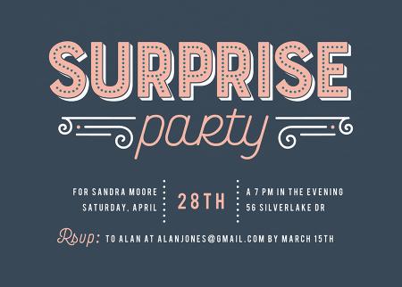 Vintage Surprise Party