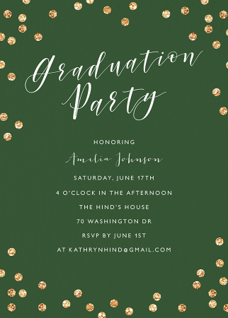 Confetti Graduation Party