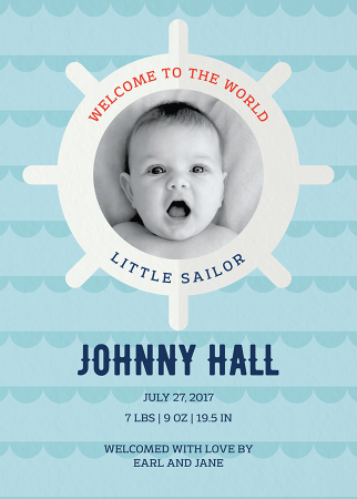 Welcome Little Sailor