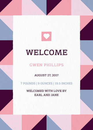 Geometric Birth Announcement