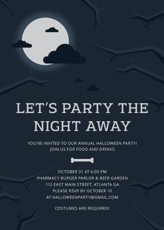 Midnight Halloween Invitation