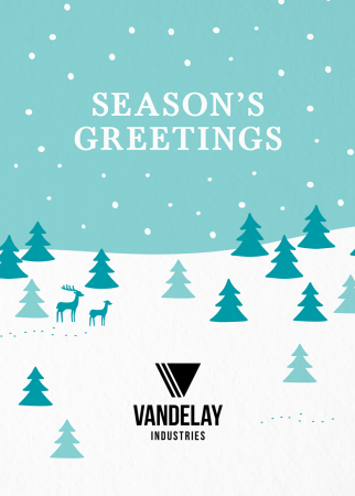 Snowy Season's Greetings Logo Card
