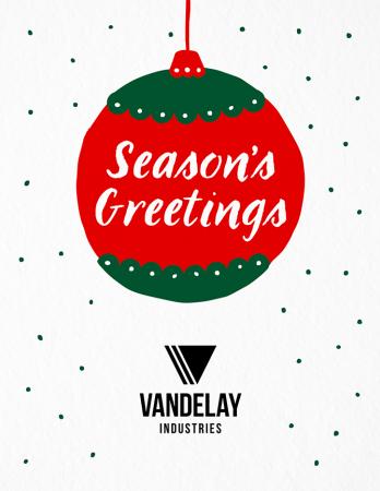 Season's Greetings Ornament
