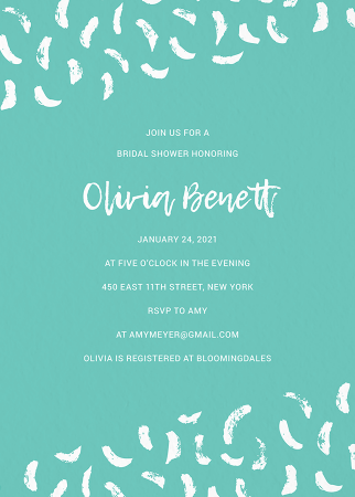 Turquoise Bridal Shower