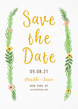 Garland Save The Date